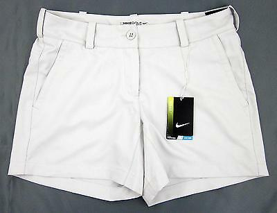 NWT! Nike Golf Womens Tour Performance Modern Rise Shorts Light Bone Sz 8
