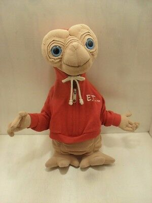 15 Plush E.T. Extra Terrestrial Plush Doll Wearing Red E.T. Embossed Hoodie Uni.