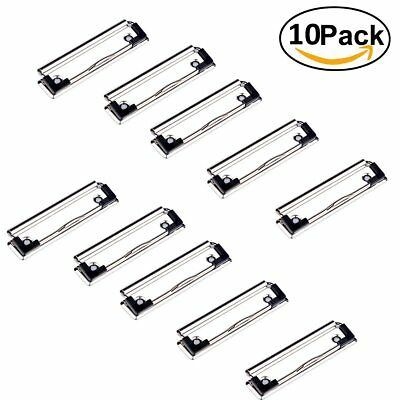 UTOPER Clipboard clips with Rubber Feet Holds Half Inch of Paper 10 PCS Silver