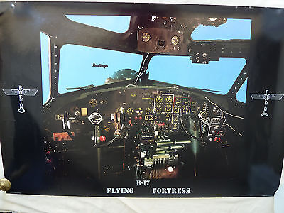 Boeing B17 Flying Fortress cockpit instrument panel  Aviation Art Print 24X36 in