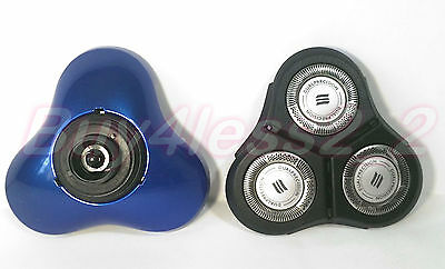 RQ11 Shaving Head & Base blue For Philips Norelco 2d 1150X 1160X 1190X 1180X