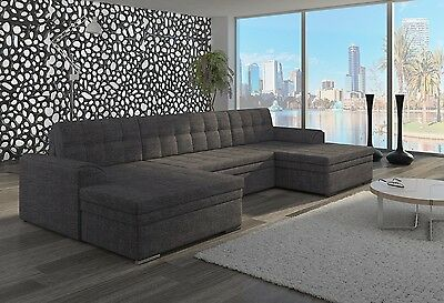 Wohnlandschaft Couch Sofa Victoria U-Form Polstergarnitur Couchgarnitur Top