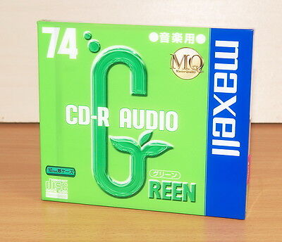 MAXELL CD-R AUDIO 74 GREEN new&sealed