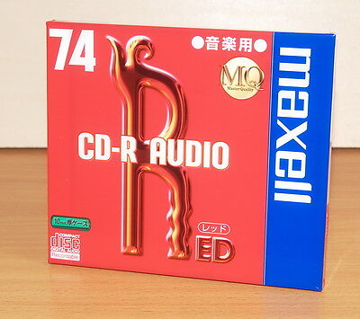 MAXELL CD-R AUDIO 74 RED new&sealed