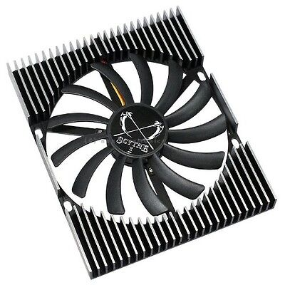 Scythe Ita Kaze - computer cooling components (3-pin, Black, 126 x 101.6 x 13.5