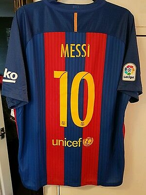 barcelona home shirt xxl 2016-2017 messi authentic