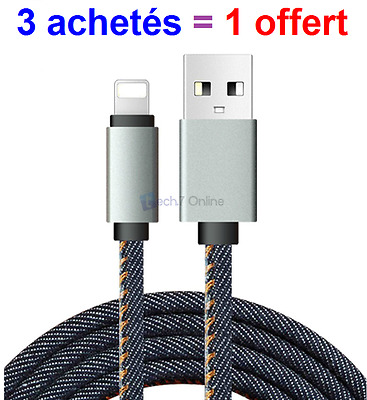 Cable Chargeur Renforcé Iphone 6 ,7, 7S 6 5S 5C Se 6S Plus Usb 8Pin Lightning