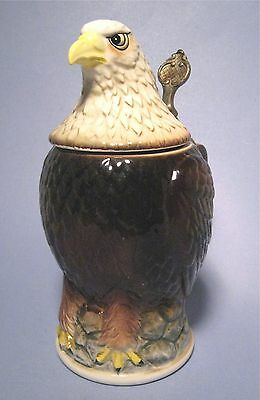 Vintage American Bald Eagle Lidded Beer Stein AA Importing Co. St. Louis