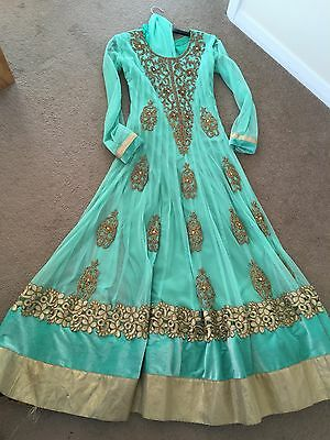 Indian Asian Bollywood Anarkali Dress Mint Green