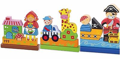 Viga Wooden Magnetic 3D Puzzle - Red Riding Hood / Giraffe / Pirate
