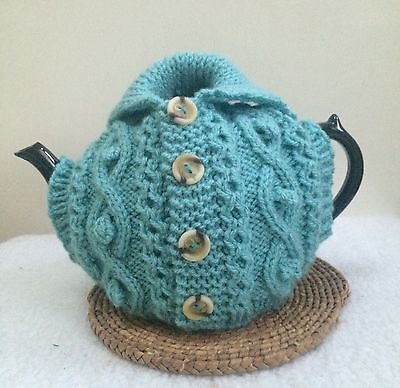 Hand Knitted Jacket Tea Cosy M Pot