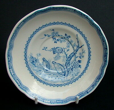 Vintage Furnivals Masons Blue Quail Pattern Tea Saucers Only 14.5cm Look in VGC