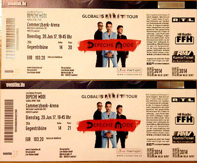 2 Tickets Depeche Mode Concert in Frankfurt! Premium Seats! 20 June 2017