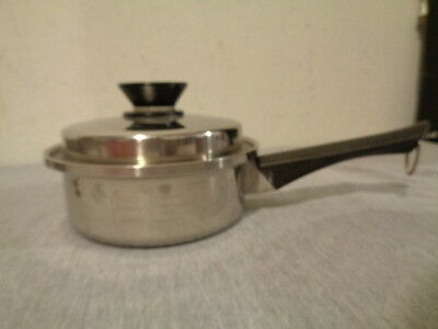 Amway Queen 3 Ply 18/8 Stainless Steel Pan w/ Lid Made in the USA