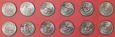 Brilliant Uncirculated 2009 6P & 6D US D.C. & Territories 25 Cents