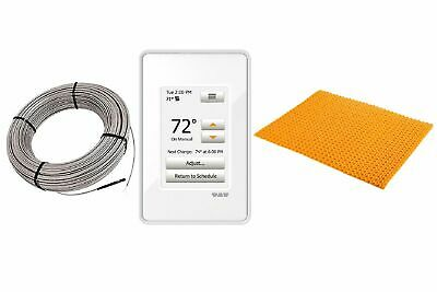 Schluter DITRA Heat E Radiant Floor Heating Kit Touch Thermostat + Mat + Cable