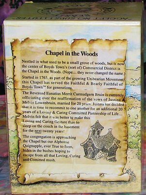 Boyds Town Bearly-Built Village CHAPEL IN THE WOODS In Box EXCELLENT CLEAN COND