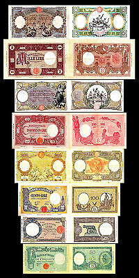 * * * 50 - 1.000 Italian Lire - Issue 1943 - 1947 - 8 Banknotes - 09 * * *