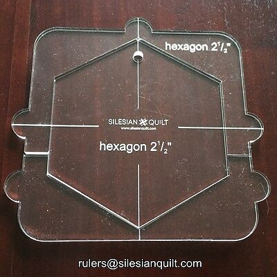 Template für Quilting: Internal template HEXAGON for Free Motion Quilting Grip 5