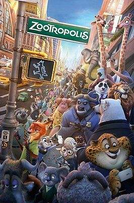 ZOOTROPOLIS Poster - ONE SHEET - NEW ZOOTROPOLIS MOVIE POSTER PP33825