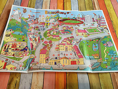 beano comic beanotown confidential game map rare road town map tourist board