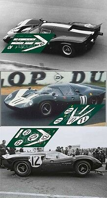 Calcas Lola T70 MkIII Le Mans 1967 10 11 12 1:32 1:24 1:43 1:18 slot decals