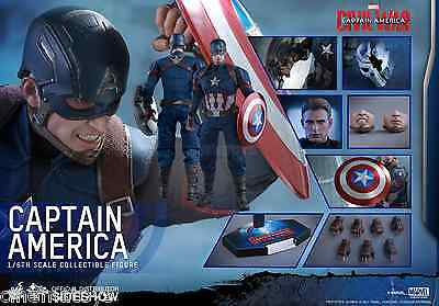 MARVEL Captain America Movie Civil War Sixth Scale Action Figure Hot Toys MMS350
