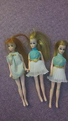 Vintage Topper Dawn K11 and K11A 1970 Mini Small Barbies Lot