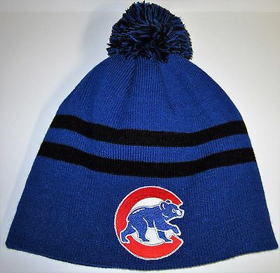 4a953d62931 CHICAGO CUBS POM Pom Beanie ~Knit Cap ~Classic MLB PATCH LOGO ~Cool ...