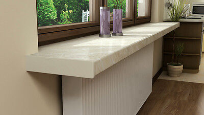 MARBLE Plastic uPVC indoor window sill with  end caps,