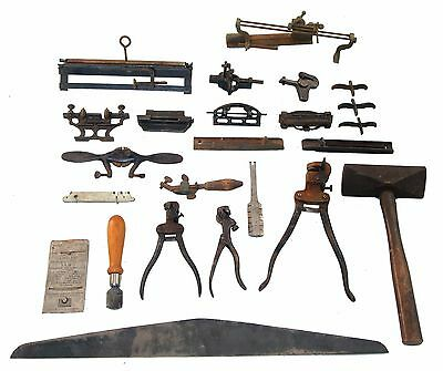 Working Set of Saw Filing and Setting Tools-Hammer, Straight Edge, Sets, Jointer