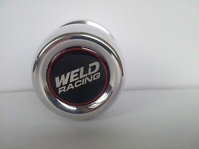 "WELD RACING WHEEL CENTRE CAPS 80mm ( 3.17"") OD. POLISHED ALLOY.Set Of 4 Caps"