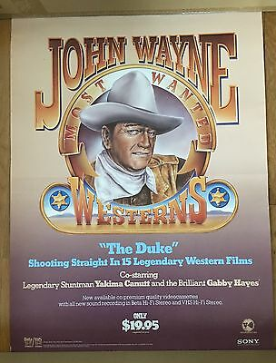 Rare 1980's Vintage John Wayne Movie Poster  18x24