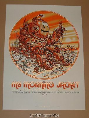 My Morning Jacket Los Angeles Guy Burwell Poster Print Signed Numbered 2011 Art