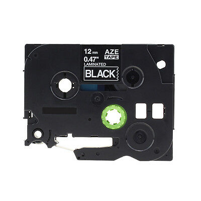 Compatible for Brother Tze-335 Standard P-Touch Label Tape White on Black 12mm