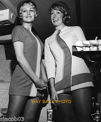 """8"""" by 10"""" PHOTO REPRINT - PSA AIRLINES STEWARDESSES - GREAT LOOK"""