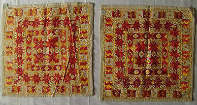 Traditional Old Vintage Embroidery Cushion/pillow Cover India Fine India Art 30