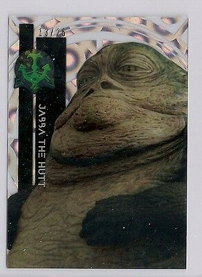 2015 Star Wars High Tek #24 Jabba The Hutt #/25 Clouds Diffractor #13/25