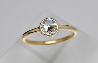 Antique-Vintage 0.12ct ROSE CUT DIAMOND WEDDING-ANNIVERSARY STERLING SILVER RING