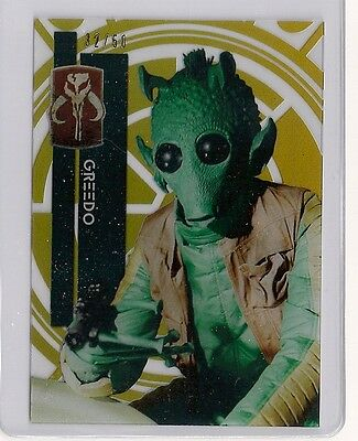 2015 Star Wars High Tek #12 Greedo #/50 Gold Rainbow