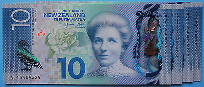 2015  UNC $10  New Zealand banknote - Latest issue & Design