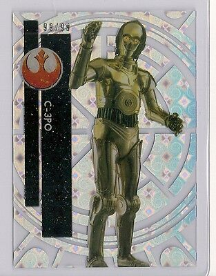 2015 Star Wars High Tek #7 C-3Po #/99 Tidal Diffractor #99/99