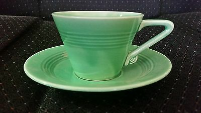 Vintage Harlequin Fiesta cup and saucer Green