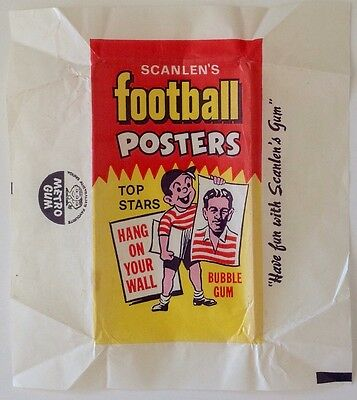 Scanlens Rugby League Football Card Wax Wrapper 1971 Large Posters