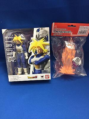 NEW SH Figuarts Dragon Ball Z Super Saiyan Trunks and shock wave PVC figure