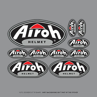 SKU2470 - Airoh Helmet Stickers - Set Of 10 Individual Stickers