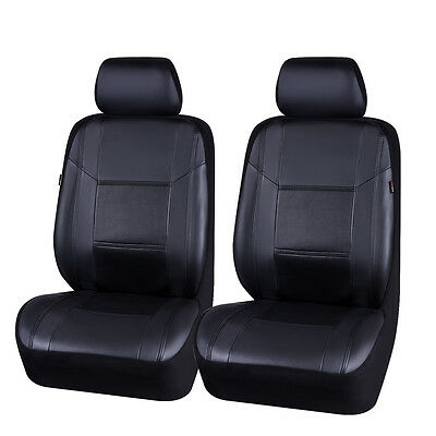 CARPASS Elegant Luxurous PU Leather Auto Universal fits 2 front car Seat Covers