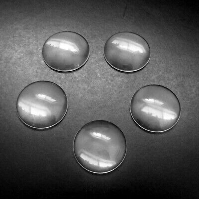 10 x Clear Glass 30mm Round Domed Cabochons - Transparent Seals