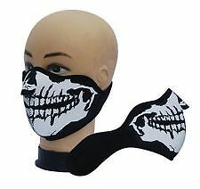 Demi Cagoule / Masque Neoprene Tete De Mort Ghost - Airsoft Paintball Ski Moto