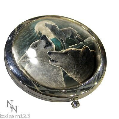Stunning  -  ' Wolf Song  Compact Mirror '   -  By Lisa Parker  -   Brand New